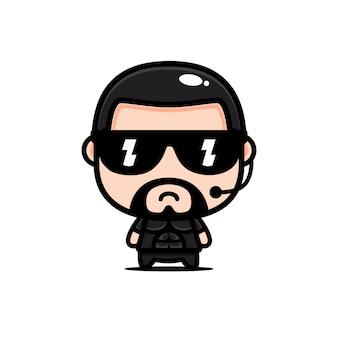 Cooles bodyguard charakter design