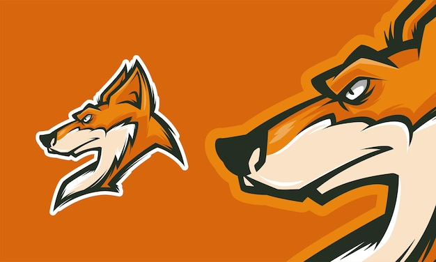 Cooles fuchs-logo-design gebrauchsfertig premium-vektor-maskottchen-illustration
