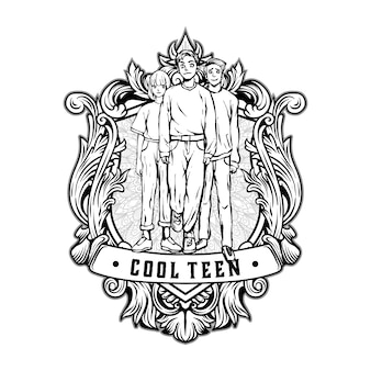 Cooles teen vintage logo