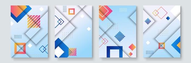 Cooles trendiges cover-design. bunte moderne. minimale geometrische formenzusammensetzung. futuristische muster. bauhaus-stil design geschichteter vektor