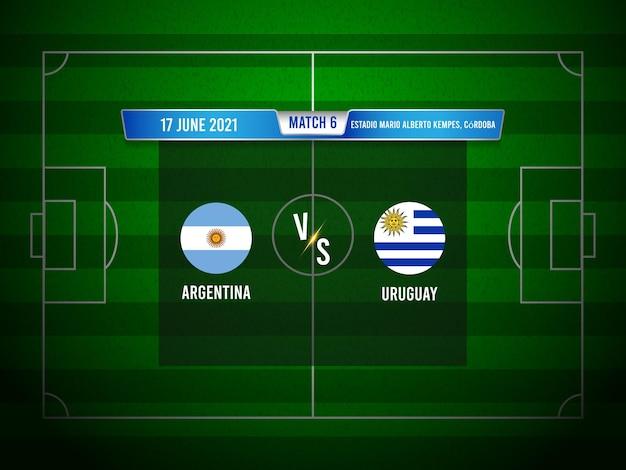 Copa america fußballspiel argentinien gegen uruguay