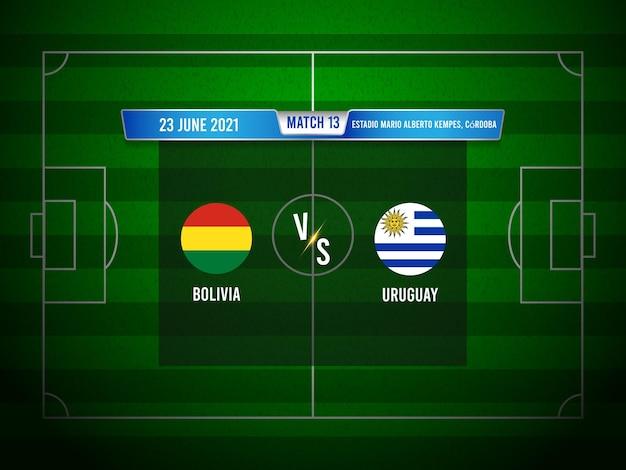 Copa america fußballspiel bolivien gegen uruguay