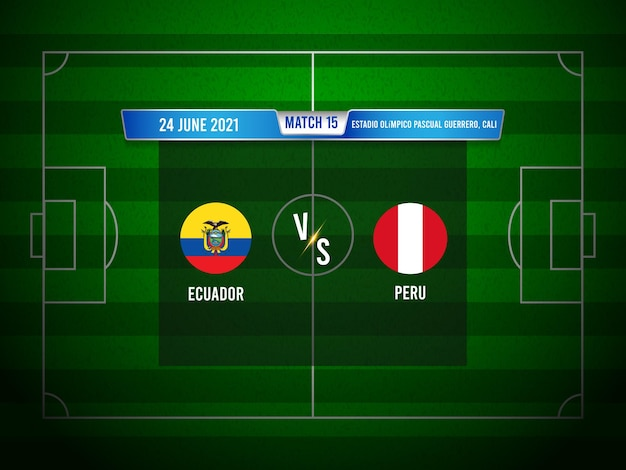 Copa america fußballspiel ecuador gegen peru