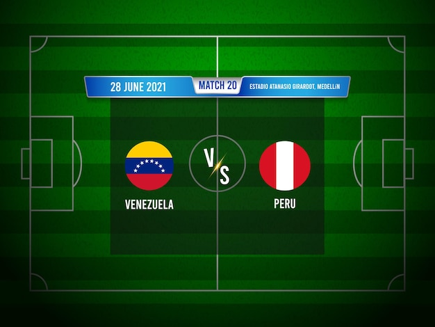 Copa america fußballspiel venezuela gegen peru