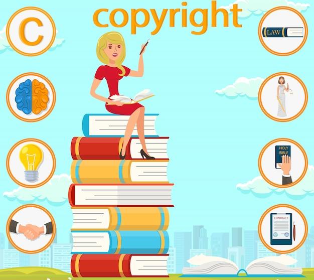Copyright brain glühbirne hand unterzeichneter vertrag.