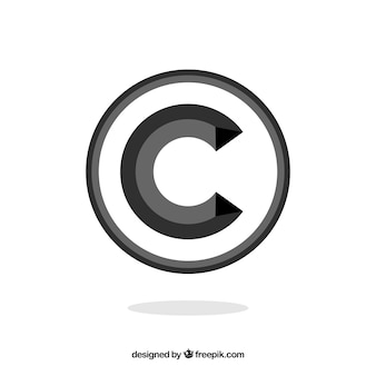 Copyright-symbol in flacher art