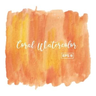 Coral aquarell hintergrund