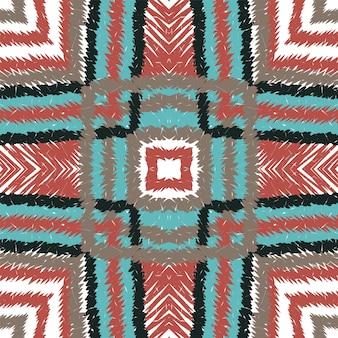 Coral repeat tie dye. marine chevron nahtloses muster. aztekische fliese böhmische textur. dip ethnischer stoff hintergrund. geometrisches ikat japan.