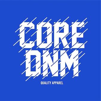 Core denim - typografie