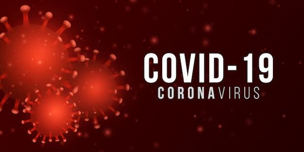 Corona 3d virus mikrobe. wissenschaftlicher hintergrund. krankheitserreger. medizinisches banner. illustration