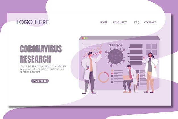 Corona vaccine landing page template