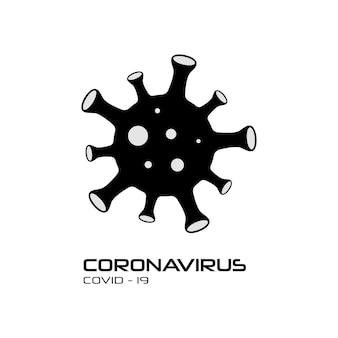 Corona virus, covid 2019 symbol
