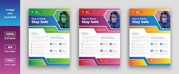 Corona virus flyer vorlage design