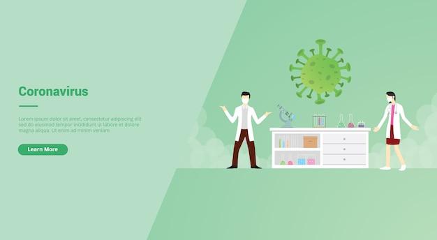Corona-virus-kampagnenkonzept für website-vorlagenlandung oder homepage website.modern flacher cartoon-stil.
