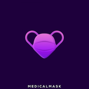 Corona virus medical mask premium logo