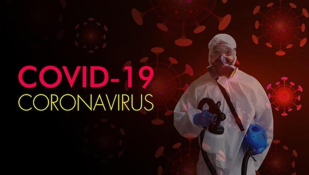 Corona virus stopp covid19 psa persönlicher schutzanzug