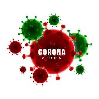 Corona-virus und viruszell-covid-19-vektor