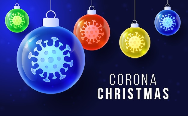 Corona weihnachtskonzept.