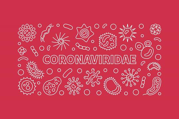 Coronaviridae-konzeptumrissikonen
