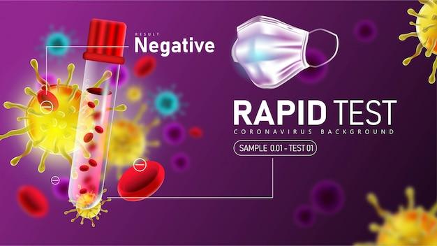 Coronavirus 2019-ncov-schnelltest mit negativem ergebnis