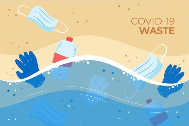 Coronavirus-abfall - hintergrund