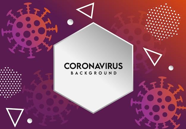 Coronavirus abstrakter hintergrund