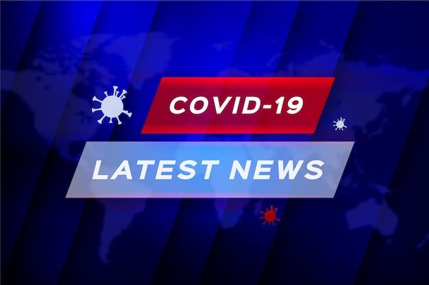 Coronavirus aktuelle nachrichten - hintergrund Premium Vektoren
