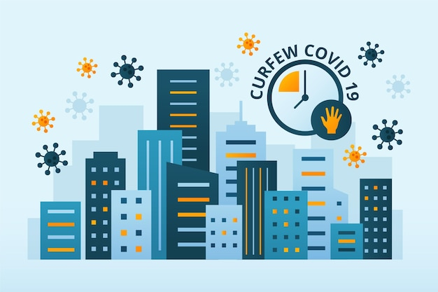 Coronavirus ausgangssperre konzept