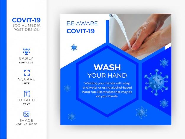 Coronavirus awareness social media post