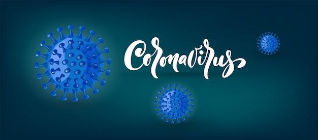Coronavirus-banner zur sensibilisierung oder warnung vor der ausbreitung von krankheiten