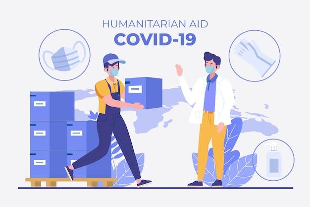 Coronavirus befiehlt humanitäre hilfe