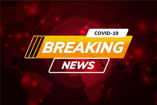 Coronavirus breaking news hintergrund