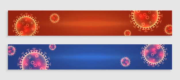Coronavirus covid-19-banner mit textbereich