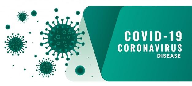 Coronavirus covid19 krankheit ausbruch hintergrund mit schwimmendem virus