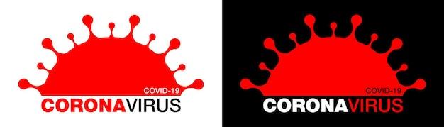 Coronavirus covid19-symbol roman coronavirus 2019ncov-symbol stoppen sie die coronavirus-infektion