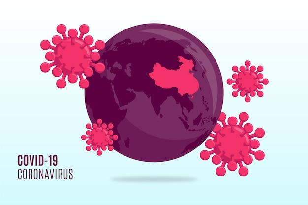 Coronavirus globus-konzept