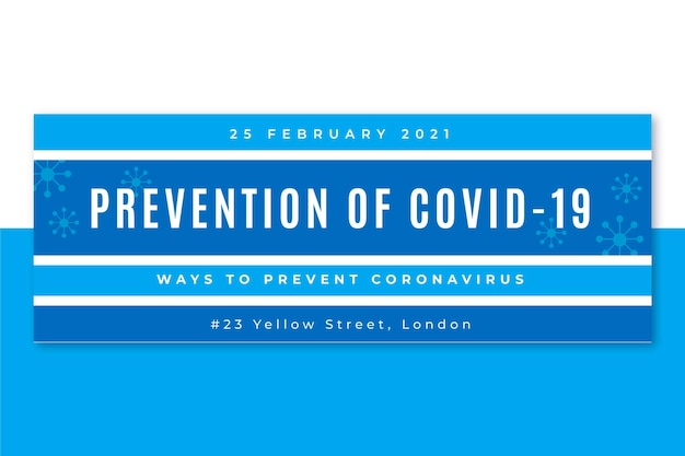 Coronavirus grid social media cover