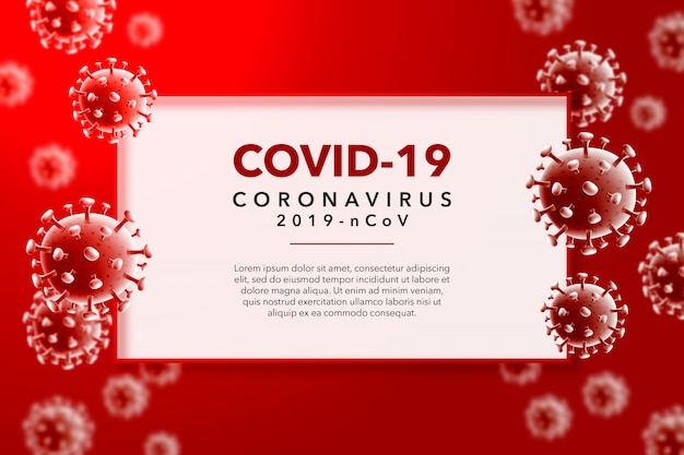 Coronavirus-hintergrund