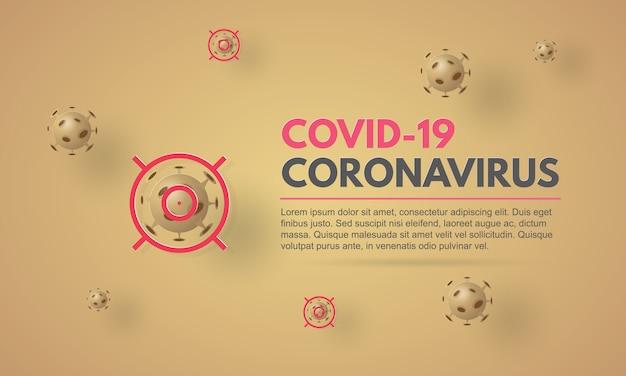 Coronavirus im zielbanner. coronavirus ausbruch