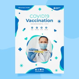 Coronavirus-impfflyer Kostenlosen Vektoren