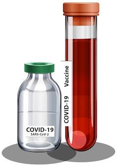 Coronavirus-impfstoff und spritze