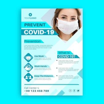 Coronavirus informative flyer-vorlage