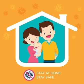 Coronavirus-kampagne, um zu hause zu bleiben