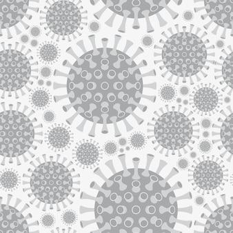 Coronavirus-krankheit covid-19 hintergrund. nahtloses muster