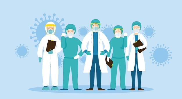 Coronavirus-krankheit, krankenhaus, gesundheitswesen und medizin