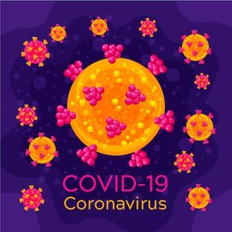 Coronavirus-logo-vorlagenthema