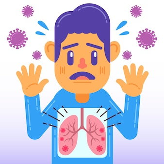 Coronavirus lungeninfektionskonzept