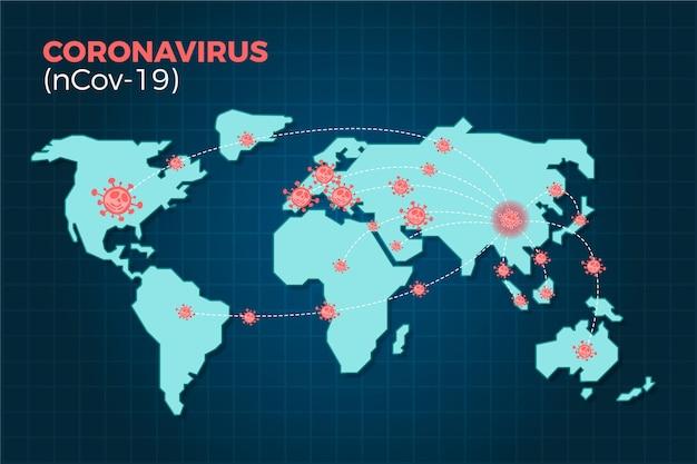 Coronavirus ncov-19 verbreitet sich auf der ganzen welt