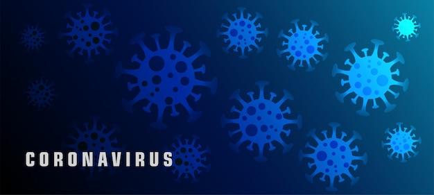 Coronavirus ncov oder covid-19 virus banner konzept