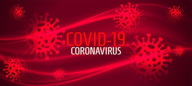 Coronavirus neuartige covid-19-infektion verbreitete rotes banner